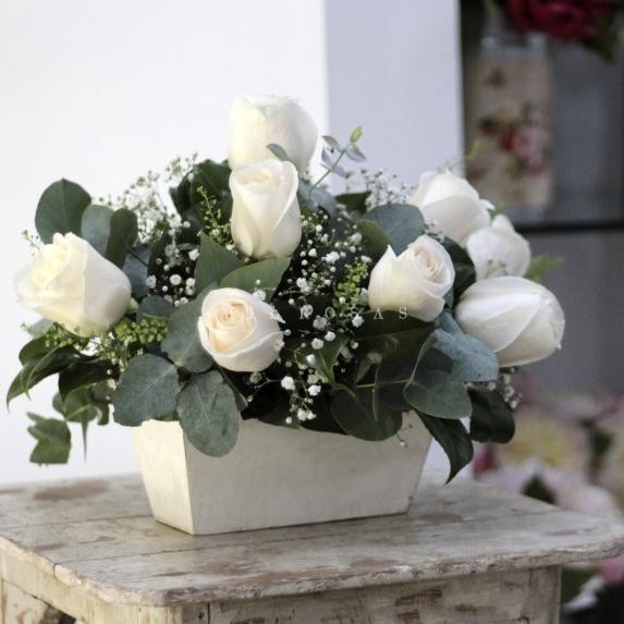 Centro de rosas Rústico