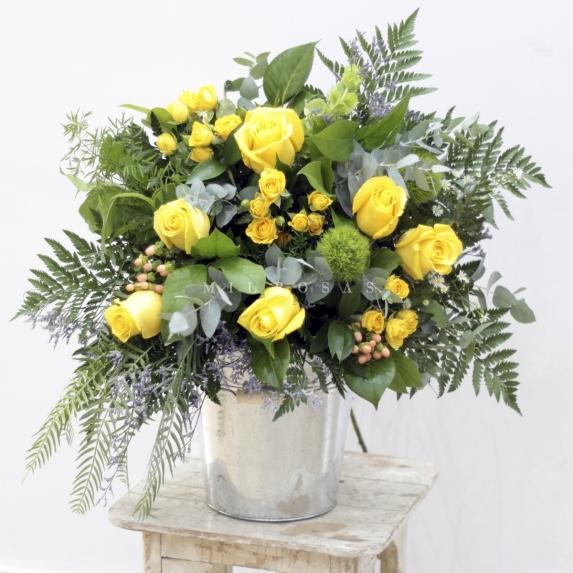 Bouquet Francés Tonos Amarillos