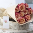 Rosas al Natural Ecobox Naranjas