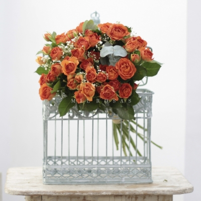 Bouquet Spray Naranja