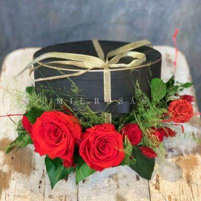 Caja de Rosas Preservadas Jardín