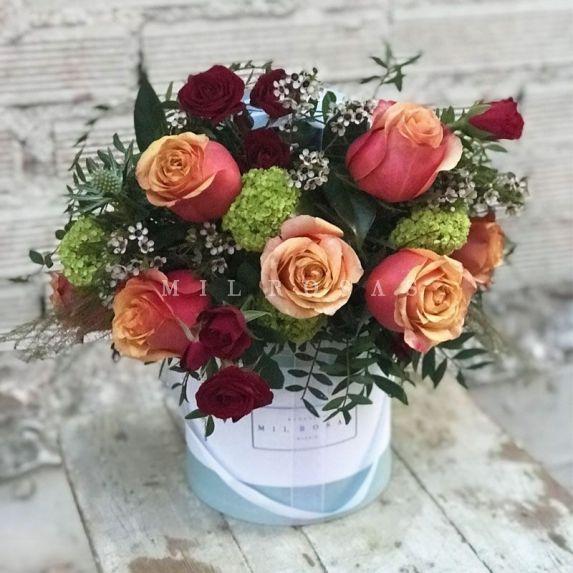 Sombrerera Rosas Naranjas